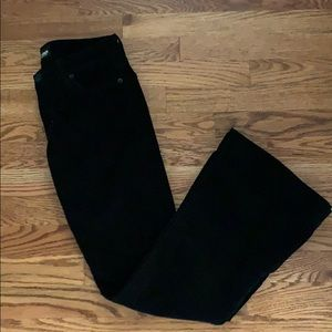 Hudson Black Boot Cut/Flare Corduroy Jeans